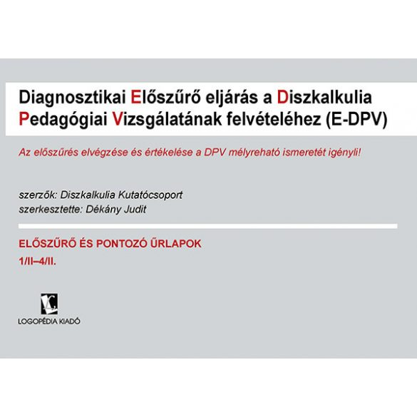 E-DPV pontozó ürlapkollekció